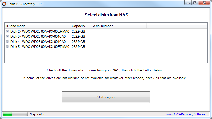 Launch Home NAS Recovery